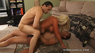 800DAD Big Tit Alura Jenson gets DP from Gigolo Outcall Studs