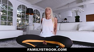 STEPMOM MOM TRAINS SON COCK