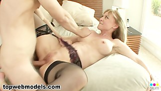 Uber MILF Cougar NINA HARTLEY Fucked Teen Stepson! MUST SEE! A++